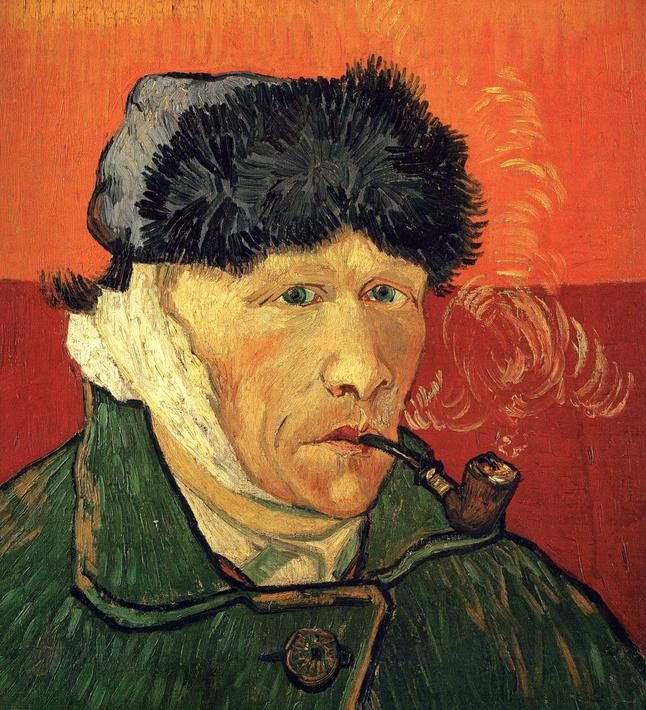 Vincent Van Gogh Selfie with Bandaged Ear