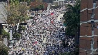 Opposition Protesters in Caracas/AFP