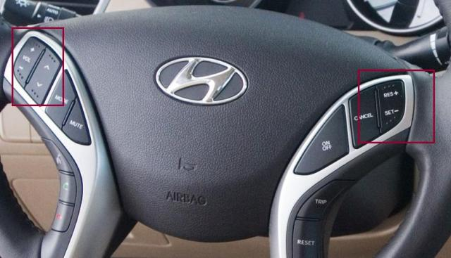Braille on steering wheel?