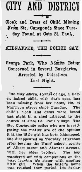 From Montreal's The Gazette. April 5, 1906