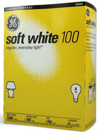 A four-pack of standard 100 watt bulbs  is no longer available