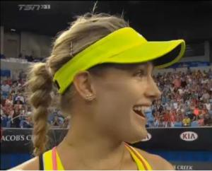 Bouchard reacts to twirl request.