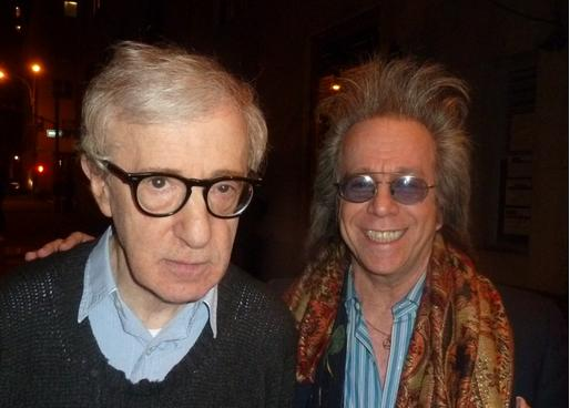 Jeff Gurian with Woody Allen at the Make Em Laugh book release