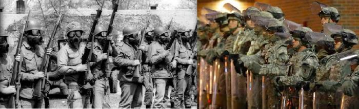National Guard - Kent State in 1970, Baltimore in 2015