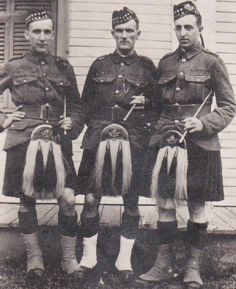 My grandfather on the far right with the Piche brothers