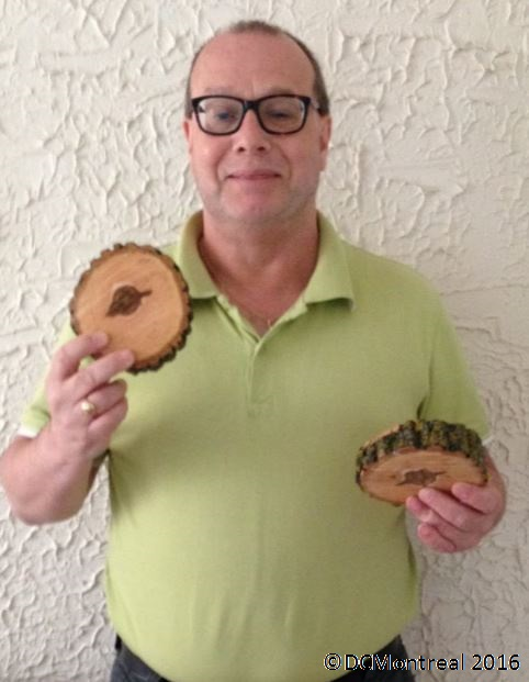 The author with his tree slices