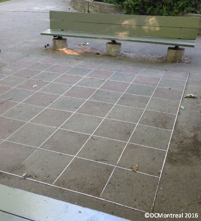 An old checker board