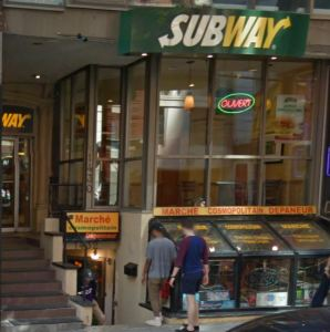 Today Rainbow Bar & Grill is a Subway. But the seven steps remain!