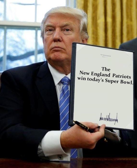 Donald Trump Signs Super Bowl ExecutiveOrder
