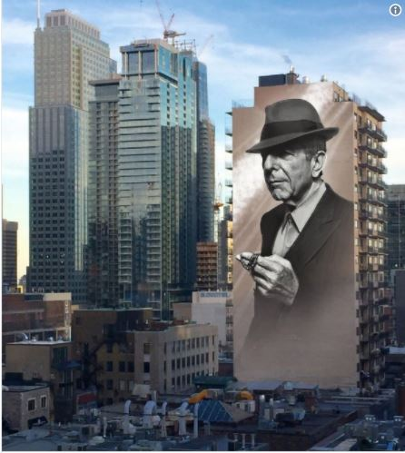 Montreal may 17 2042 dcmontreal blowing the whistle on for Mural leonard cohen