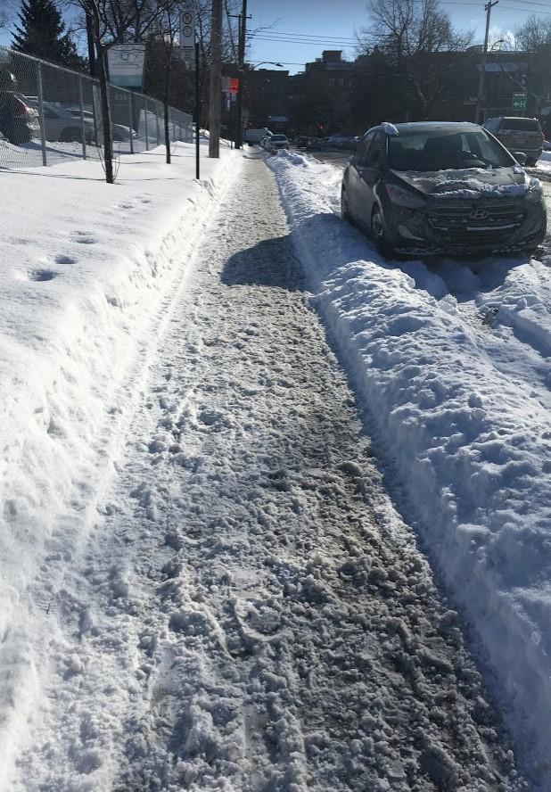 Arse Over Kettle on Montreal's IcySidewalks