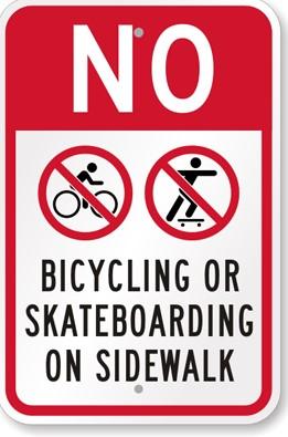 Bicycles On Sidewalks